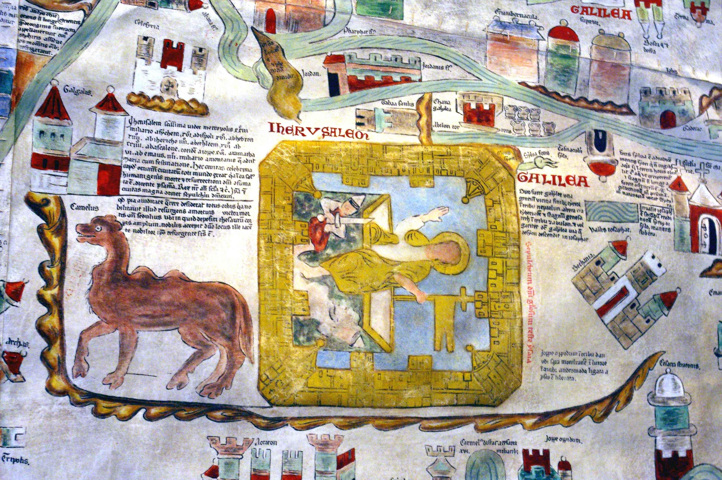 Jerusalem Karte Welt.Ebstorfer Weltkarte Br